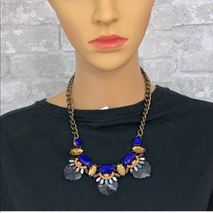Tribal Looking Blue Rustic Inspired Necklace